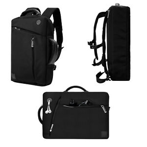 VanGoddy Black 3 in 1 Laptop Backpack Messenger Bag for 11.6