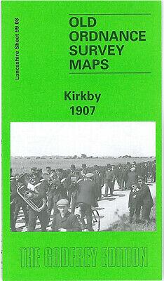 OLD ORDNANCE SURVEY MAP KIRKBY 1907 LIVERPOOL MELLING HORSE /& JOCKEY PUB