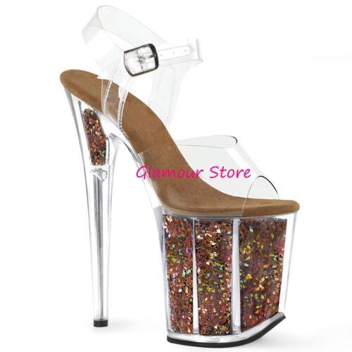 Al Vari 35 40 Colori Sandali Plateau Tacco Sexy Scarpe 20 Glamour Dal Glitter Y8xqf