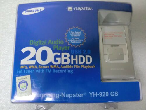 Samsung Napster 20GB HHD Music Player with FM Recording YH-920 GS New//Sealed