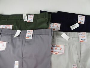 Roundtree /& Yorke Total Flex Core Comfort Easy Care Pleated Dress Pants NWT