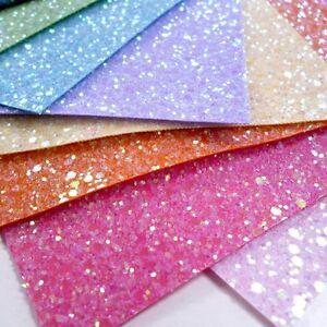 Chunky Glitter Fabric Sheet BlackGreen