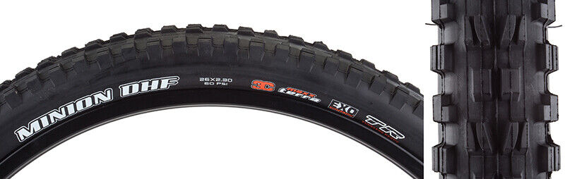 MAXXIS Tires Max Minion Dhf 26X2.3 Bk Fold 60 3C Exo Tr