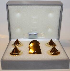 BBC-Gold-Audio-Isolation-Metal-Cones-4-pc-NEW