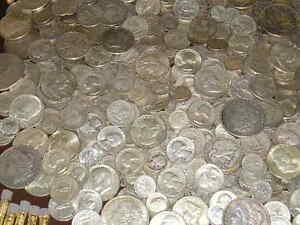 Standard Wt.-Pre 1965-No Clad Or Nickels 90/% Junk Silver US Coins lot of 1//2 oz
