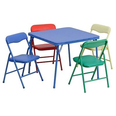 Kids Colorful 5 Piece Folding Table and Chair Set | eBay