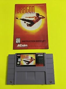 WORKING-SUPER-NINTENDO-SNES-GAME-CARTRIDGE-amp-BOOK-DRAGON-BRUCE-LEE-STORY