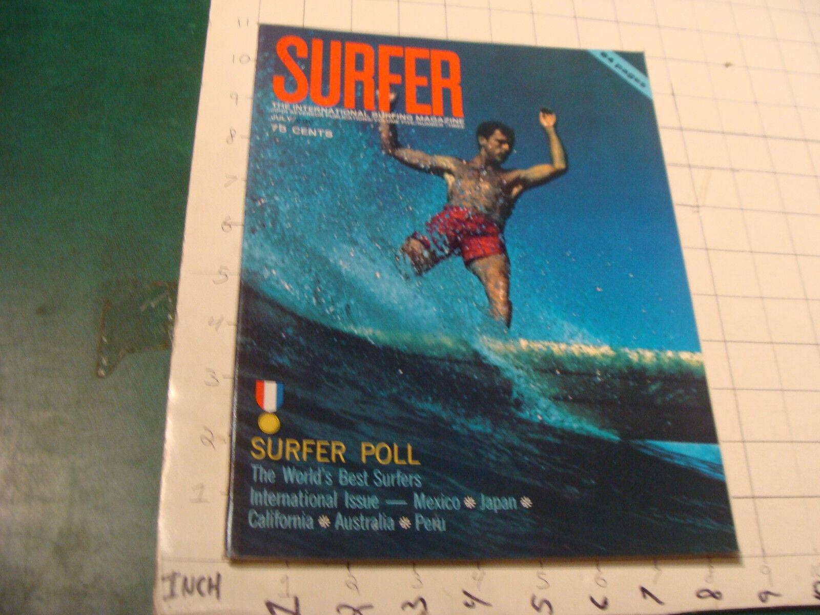 Vintage alto grado Mag  Surfer International Surfing Mag Julio de 1964, 84pgs