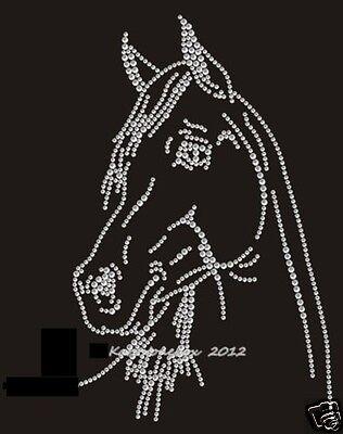 Hotfix Bügelbild Strass hübscher Pferdekopf Reiten Chrystal 130907 Karostonebox