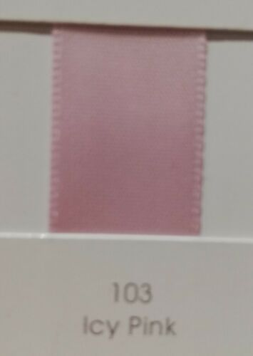 "10 Metres QUALITY Yama Satin Ribbon 9mm 3//8/"" Pink Red Single Sided"