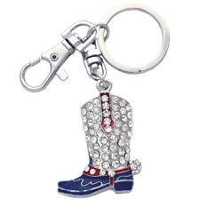 3D Western Cowboy Cowgirl Boot Charm Key Chain Key Ring Holder Jewelry k27