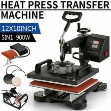 5 In 1 Heat Press Machine Digital Sublimation Swing Away T Shirt Plate Hatmug