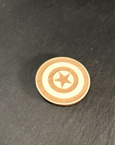 Captain America Fridge Magnet In Wood....Laser Cut /& Engraved