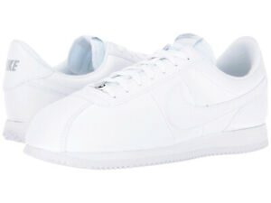 new product 1eb25 3a5cf Details about NIKE CORTEZ BASIC LEATHER WHITE WHITE GREY CLASSIC MENS SHOES