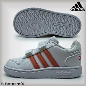 adidas-Hoops-2-0-per-Neonate-Scarpe-Da-Ginnastica-Taglia-UK-5-5-6-6-5-7-7-5-8-8-5-9-neonato