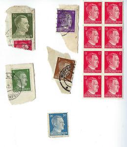 Nazi-Germany-Third-Reich-Nazi-Hitler-Sets-Stamp-lot-World-War-2-Era-WW2