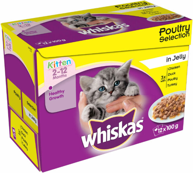 Whiskas Pouch Kitten Poultry Selection In Jelly 12x100g