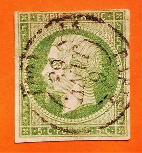 MARCOPHILES ! Empire non dentelé n° 12 d (TB-1280-6) Obl petit CaD Grosse Cote