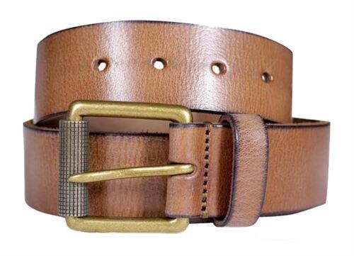 NUOVA linea uomo TAN GENUINO REALE Premium in Pelle Ufficio Casual Jeans Fibbia Cinture S-3XL