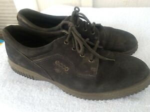 ecco women's black soft suede lace up oxfords casual walk