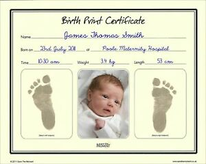 Save-The-Moment-Inkless-Footprint-Birth-Certificate-Baby-Foot-Print-Keepsake