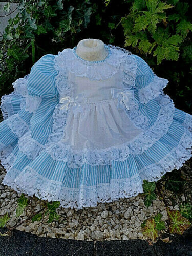 DREAM 0-4 YEARS BABY GIRL TURQUIOSE CANDY ALICE NETTED PUFFBALL FRILLY DRESS