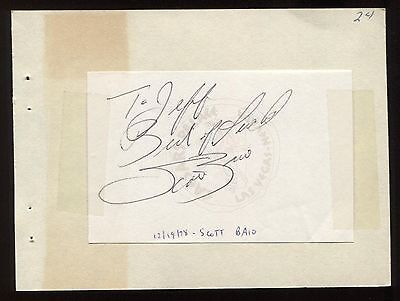 "Scott Baio Signed Album Page Inscribed ""to Jeff"" Vintage Autographed In 1978 Movies"
