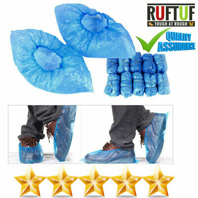 Disposable Shoe Cover Overshoes Blue Anti Slip Plastic Cleaning Boot Protector