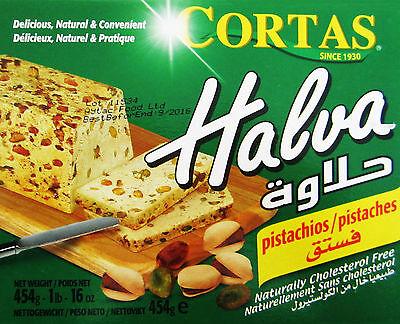 Halva Pistachio 454g   Cortas   Delicious Natural & Convenient