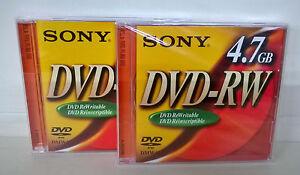 Sony-DVD-RW-Dvd-Riscrivibile-4-7-GB-02-Pezzi-Nuovi