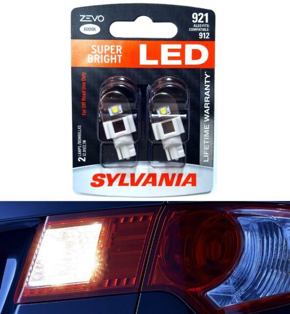 Sylvania ZEVO LED Light 921 White 6000K Two Bulbs High Mount Stop 3rd Brake Lamp