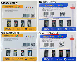 Dental-Fiber-Post-Glass-Quartz-Screw-Straight-Complete-Kit-65-Fiber-4-Drills
