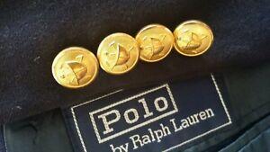 Flanelle Veste Ralph Détails Dorés Polo Lauren Sur 42l Blazer Marine Neuf Boutons WHED9ebY2I