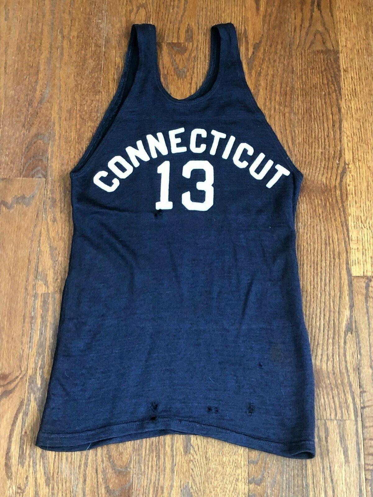 Espectacular Espectacular Espectacular Antiguo Connecticut u Conn Huskies 1930s Game Usado 8dc562