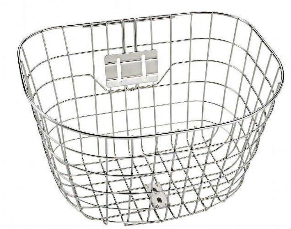 BRIDGESTONE 09YV Bicycle Round Front Basket Stainless Japan EMS