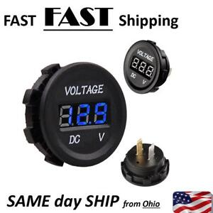 Marine /& Boat Custom Dash Mount VOLT meter NEW battery gauge