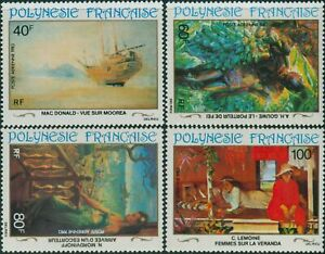 French-Polynesia-1983-Sc-C202-C205-SG409-412-20th-Century-Paintings-set-MNH