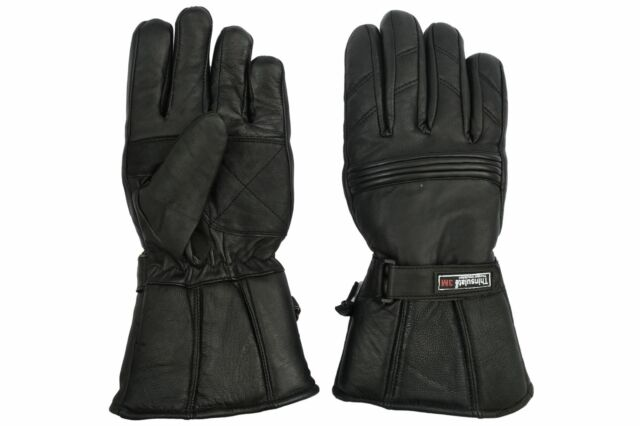 Winter Leather Motorbike Motorcycle Gloves Waterproof Thermal Leather Gloves.