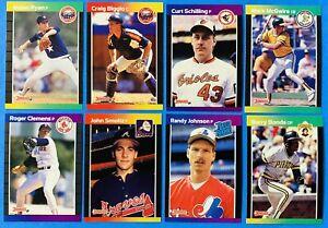 (8) 1989 Donruss Baseball Card Lot Craig Biggio John Smoltz Schilling RCs