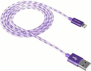 100% De Qualité Canyon Cne-cfi3p Usb à 8 Broches Violet Charge Et Synchronisation Tressé Plomb 1 M-afficher Le Titre D'origine MatéRiaux De Choix
