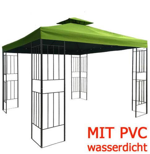 Pavillon Borneo WASSERDICHT 3x3m wasserfest Metall Festzelt Dach Zelt Garten Neu