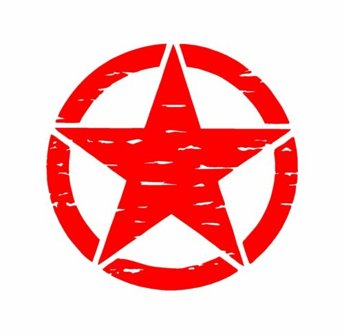 Distressed Army Jeep Decal USMC Military Star Vinyl Decal Car Truck Sticker