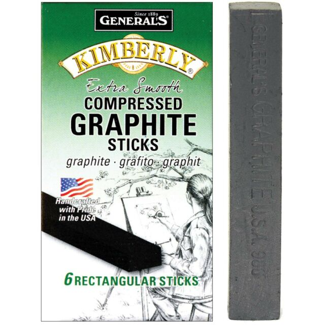 General's Kimberly Compressed Graphite Rectangular Art Sticks - 6B  -