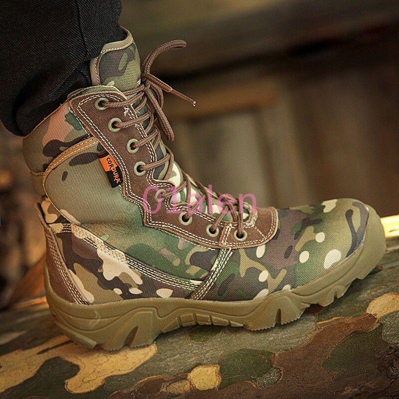 2017 Uomo scarpe militare tattica deserto mimetico merletto outdoor outdoor outdoor combattere gli stivaletti 594c25