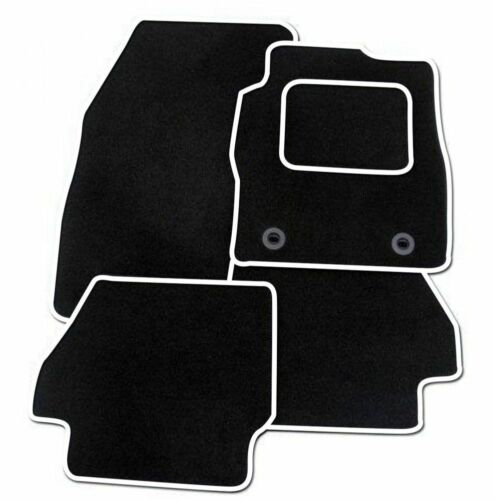 FULLY TAILORED CAR MATS FORD GRAND C-MAX 2011 BLACK CARPET WITH WHITE EDGING