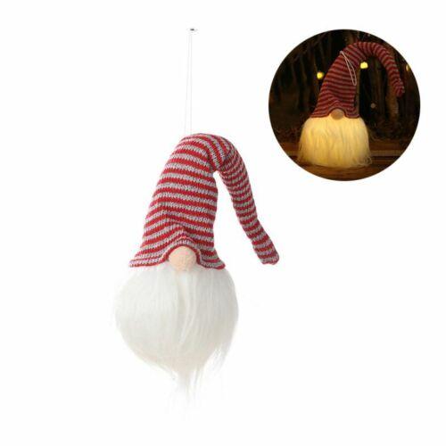 LED Lighting Gnome Night Light Plush Swedish Santa Christmas Hanging Pendant