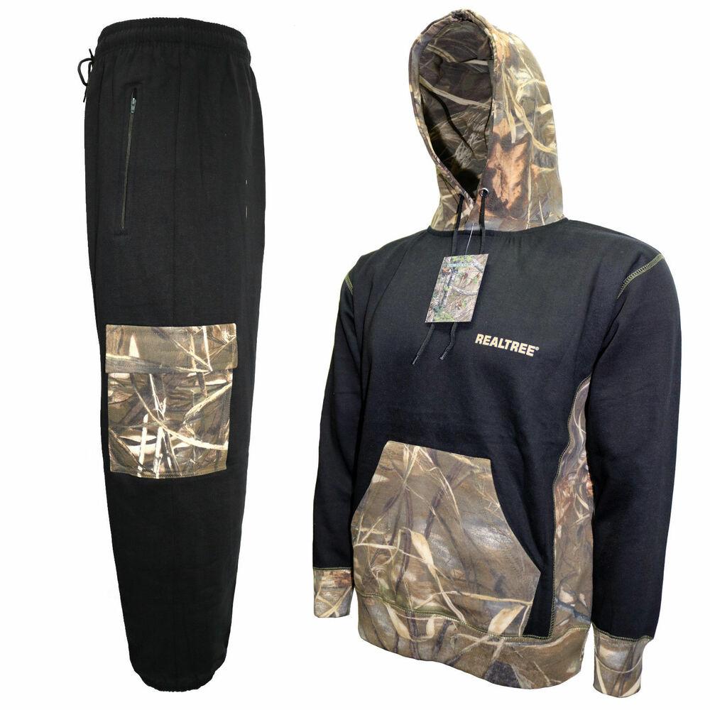 Men's Jungle Imprimé Overhead Survêtement Camouflage Realtree Sweat à Capuche & Pantalon De Survêtement S-xxl