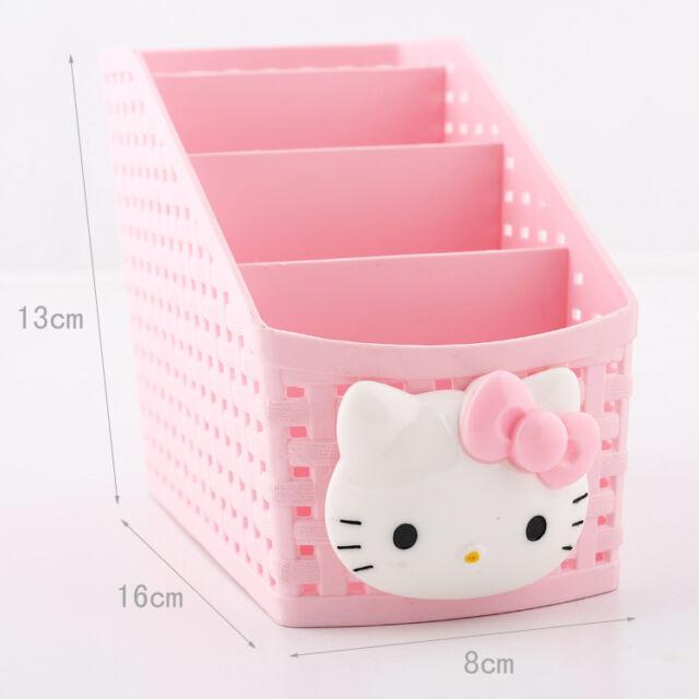 Cute Hello Kitty Remote Control Case Holder Stationery Storage Organizer Box