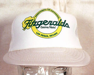 vtg-80s-Fitzgerald-039-s-Las-Vegas-Casino-Snapback-Trucker-Hat-Cap-mesh-foam-punk