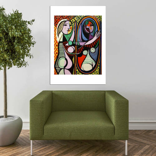 Girl Before Mirror Wall Art Poster Print Pablo Picasso